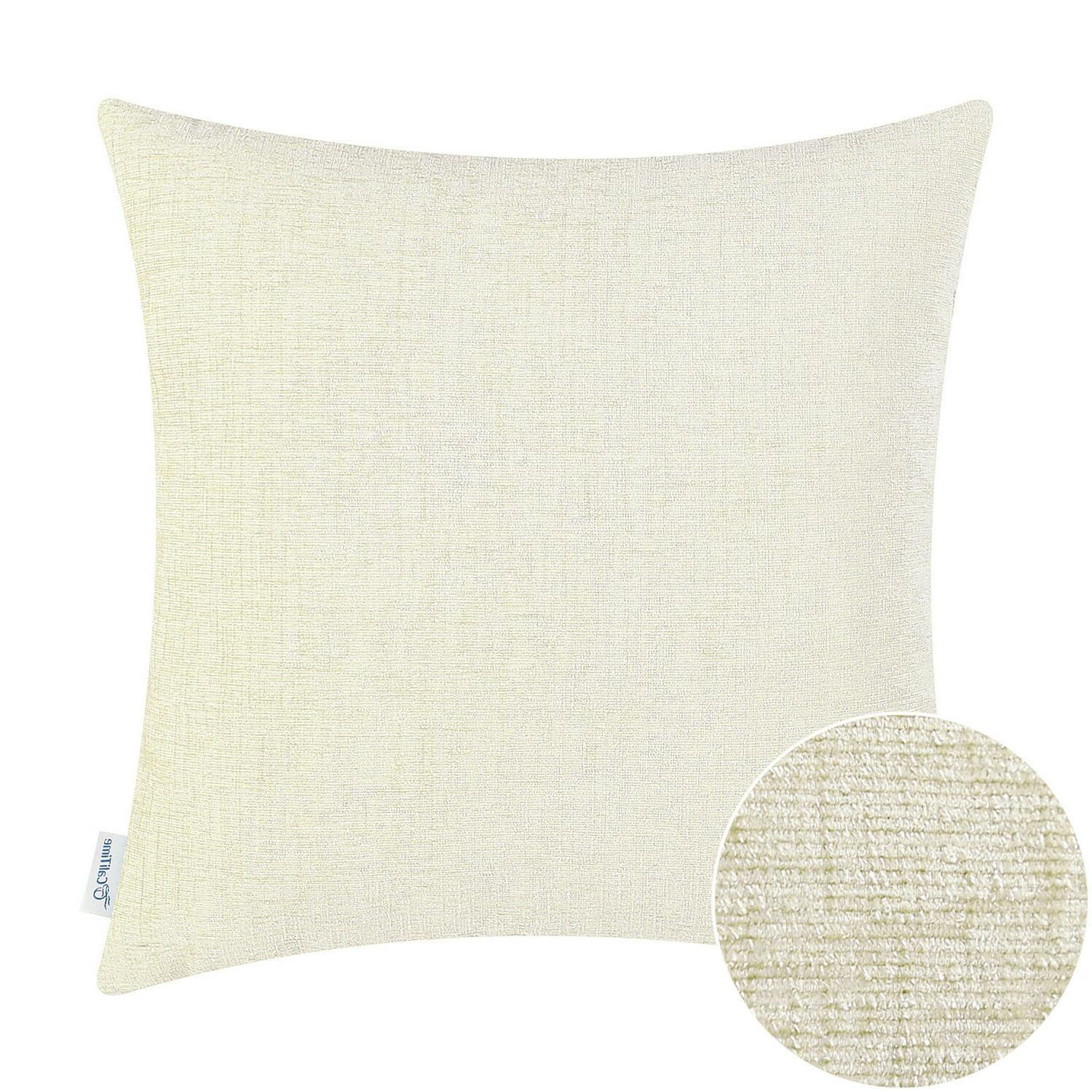 """CaliTime Cushions Covers Pillows Shells Decor Solid Chenille 20"""""""