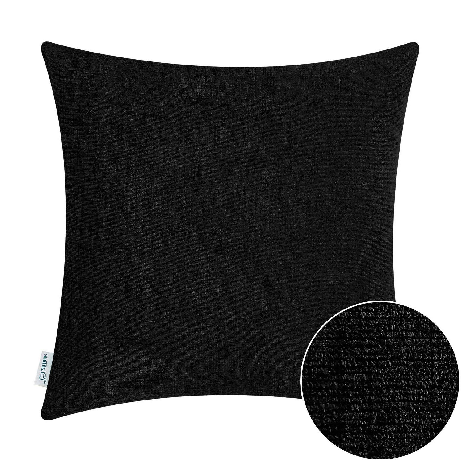 CaliTime Cushion Case Sofa Decor Solid