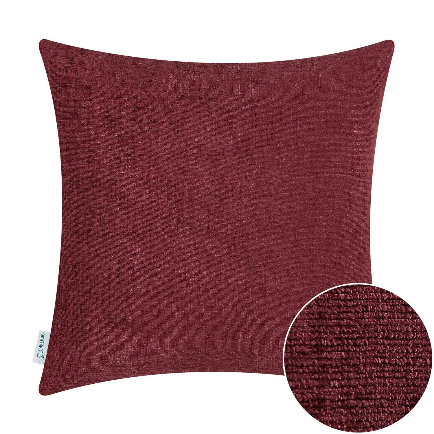 CaliTime Throw Case Decor Solid Chenille