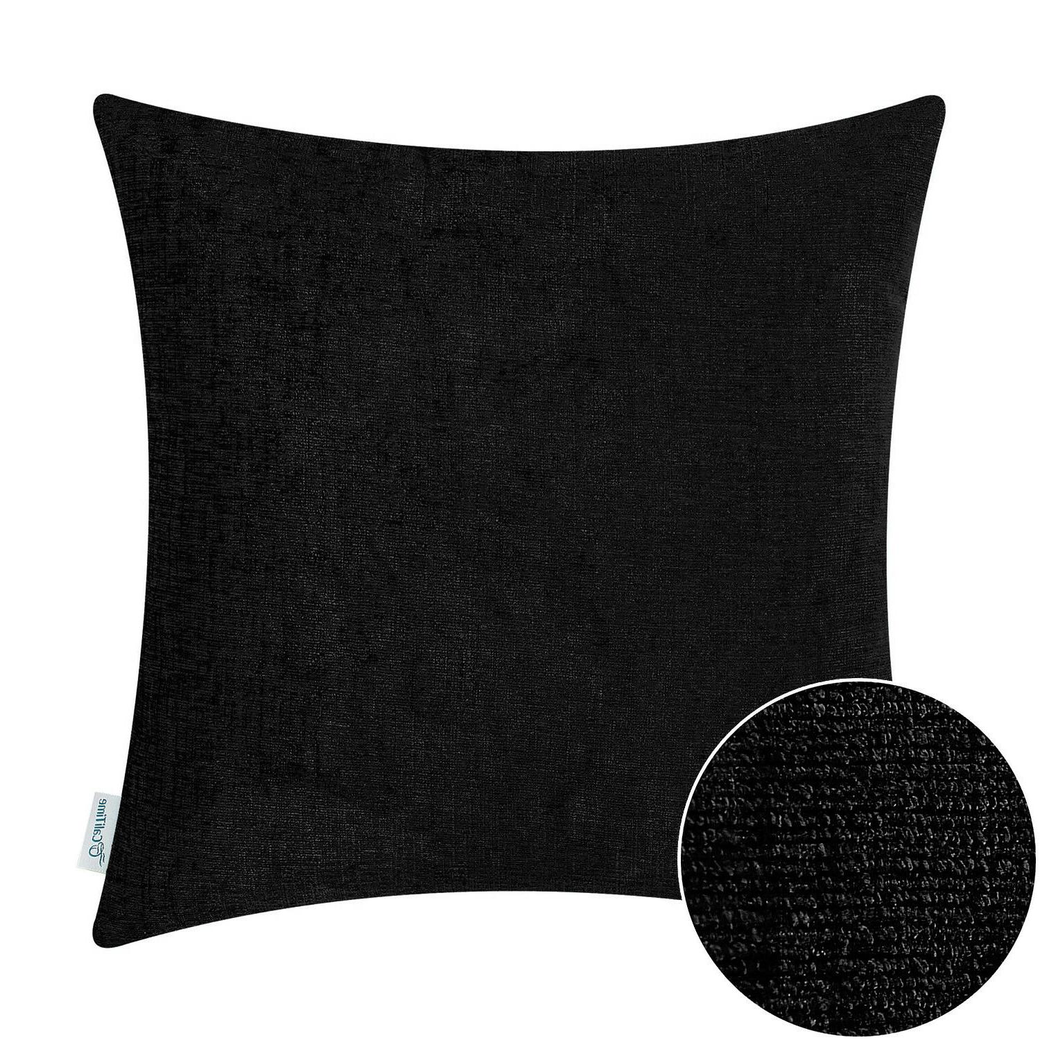 """CaliTime Covers Pillows Decor Solid Chenille 20"""""""