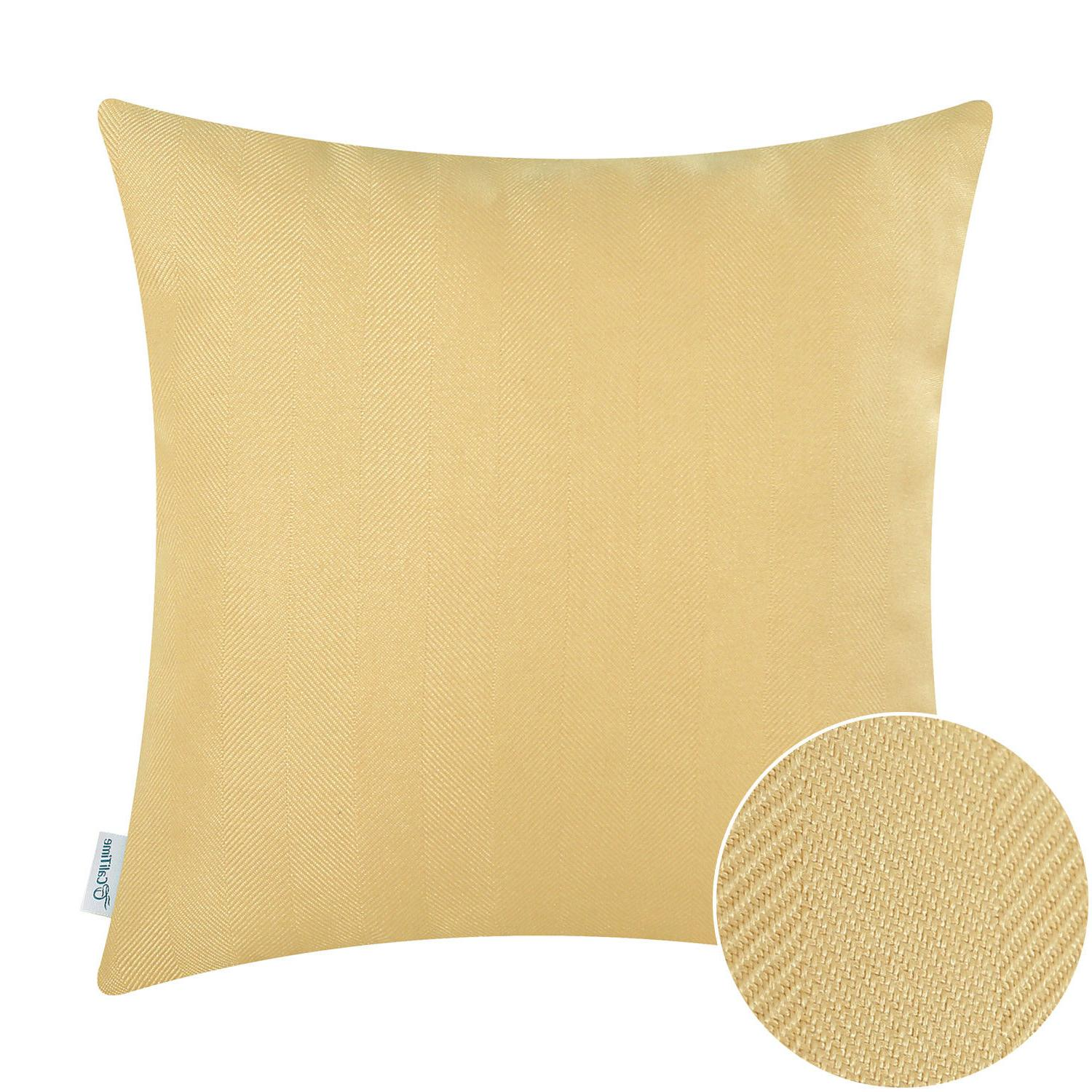 """CaliTime Covers Pillows Striped Texture 18"""""""
