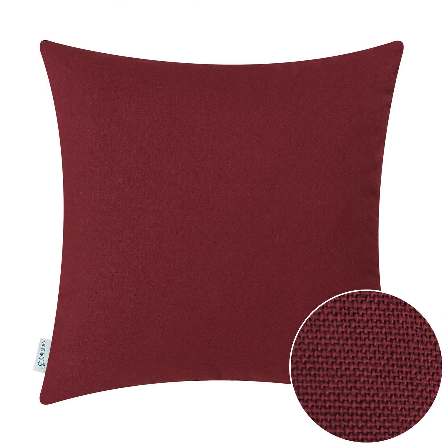 CaliTime Cushion Covers Throw Pillow Shell Solid Cotton Canv