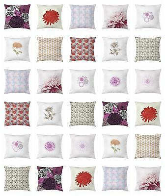 dahlia throw pillow cases cushion covers by