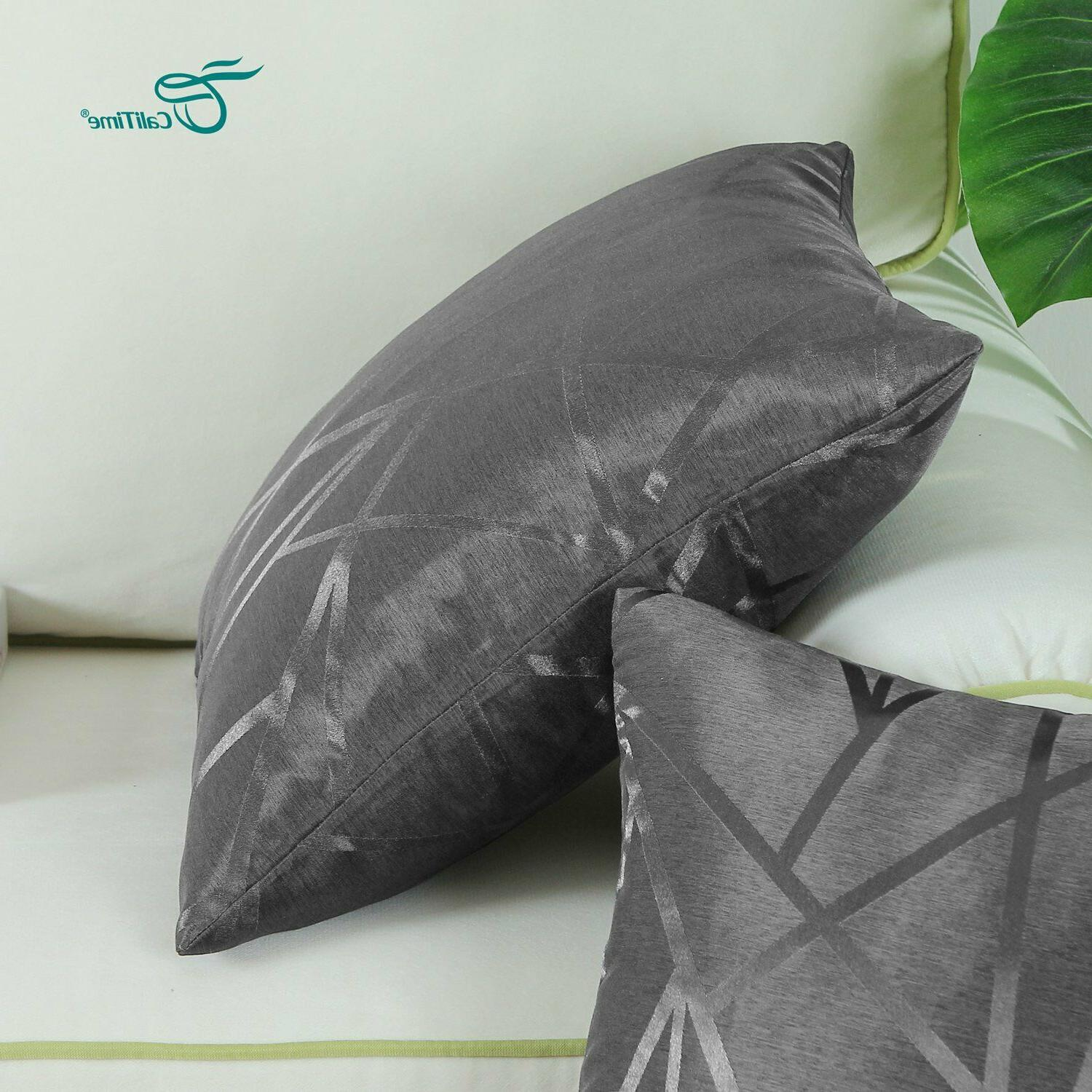 Dark Gray Pillow Covers Abstract, 2