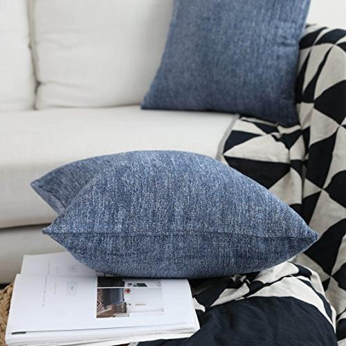 HOME BRILLIANT Decor Pillow Supersoft Chenille Velvet Cushion Cover Couch Bench,