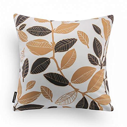 "Phantoscope of Decorative Golden Throw Pillow Cover 18"" x 18"" 45x45cm"