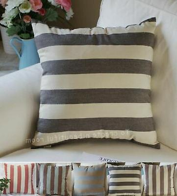decorative handmade striped cotton throw pillow covers