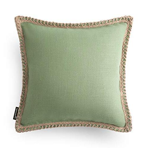 Trimmed Pillow Cushion Green 30