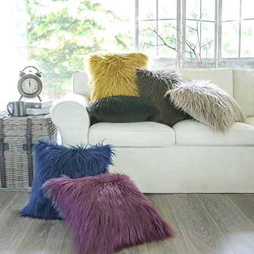 "Phantoscope Decorative New Luxury Series Merino Style Fur Pillow Case Cushion Cover 18"" 45cm x 45cm"