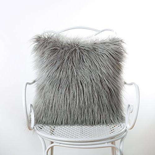 "Phantoscope Decorative New Fur Cushion 18"" 18"" 45cm 45cm"
