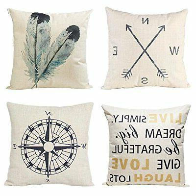 decorative throw pillow covers cotton