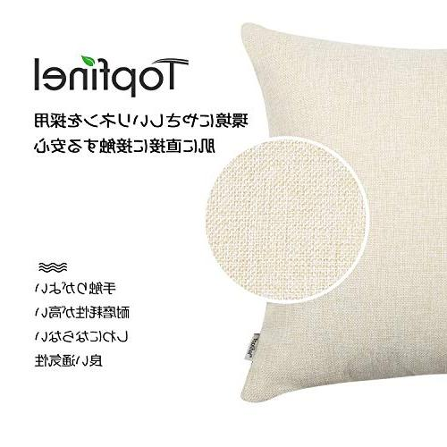 Top Decorative Pillow Covers-Square Linen X for Sofa Set of