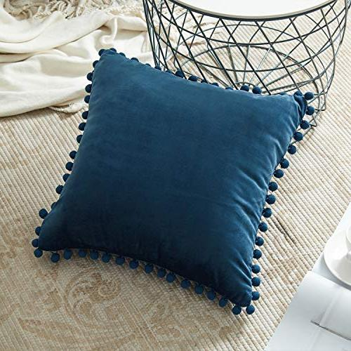 Top Finel Decorative Pillow Soft Velvet Cushion 20 X 20 for Couch of