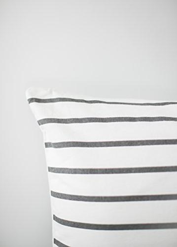 Woven Decorative Pillow Covers ONLY Couch, x 18 Quality Stripes Geometric Atlas Set