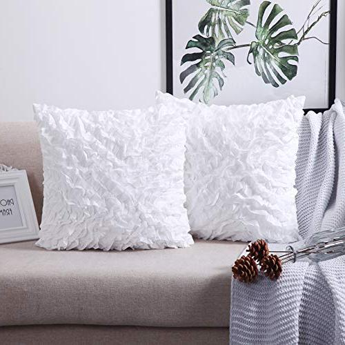 MoMA Decorative Pillow Covers Pillow Sham White Throw Pillow Cover Square Decorative Pillowcase - 20""