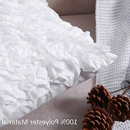 MoMA Decorative Covers Pillow Sham Cushion White Throw Pillow - Decorative Sofa Pillow Decorative Pillowcase White
