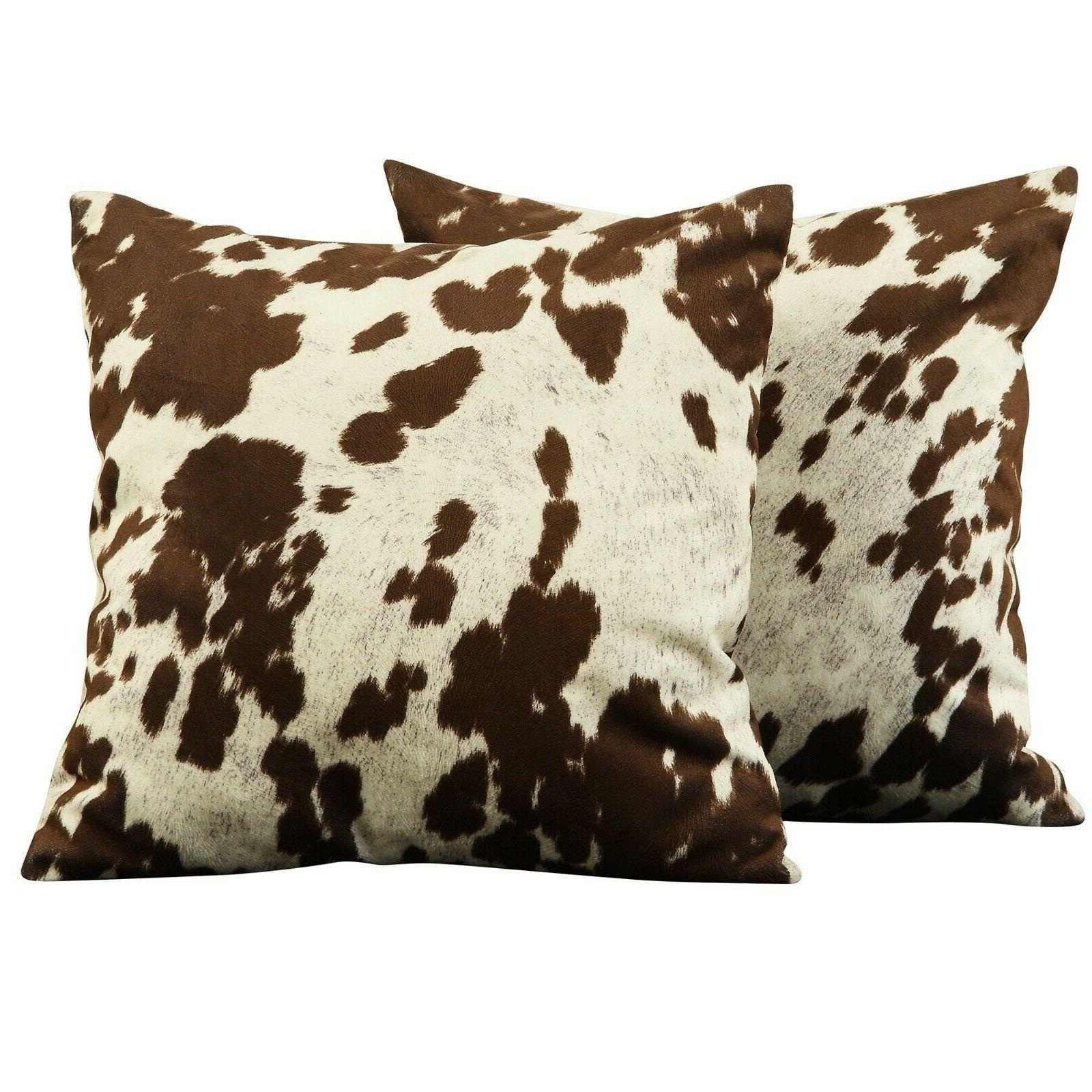 decorative throw pillows bedroom cow print rustic