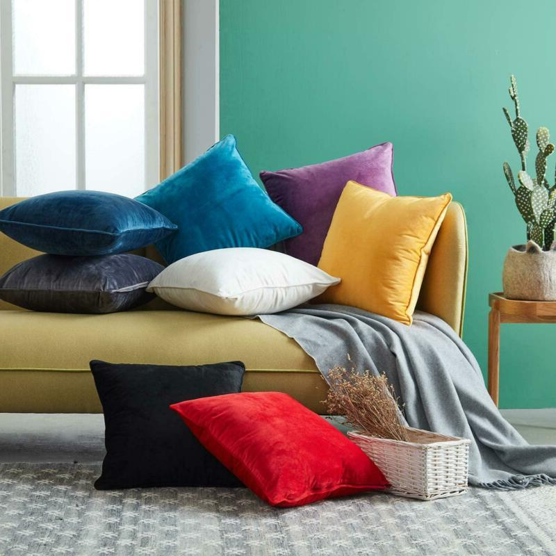 Top Finel Throw Pillow Covers Soild Square
