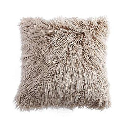deluxe home decorative super soft plush mongolian