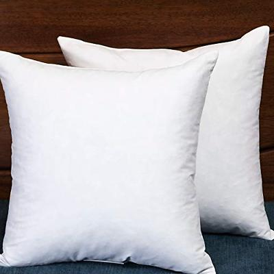 down and feather square 18x18 inch throw