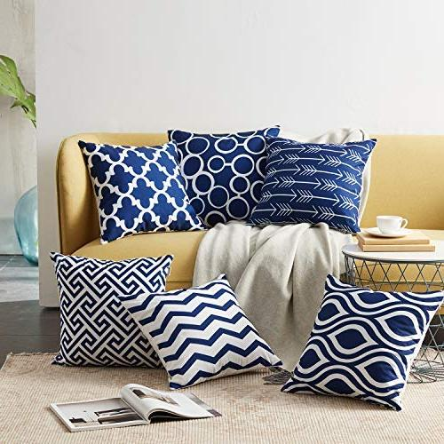 Top Canvas Throw Pillows Cushion Covers for Sofa 1 Set of 6,18×18