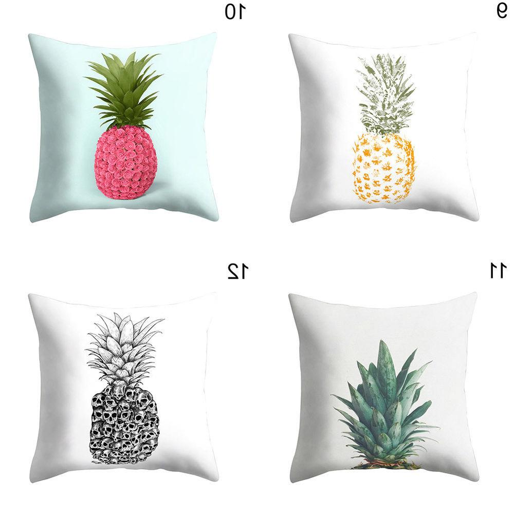 EP_ Modern Pineapple Bed Pillow Case Cushion Cover Decor