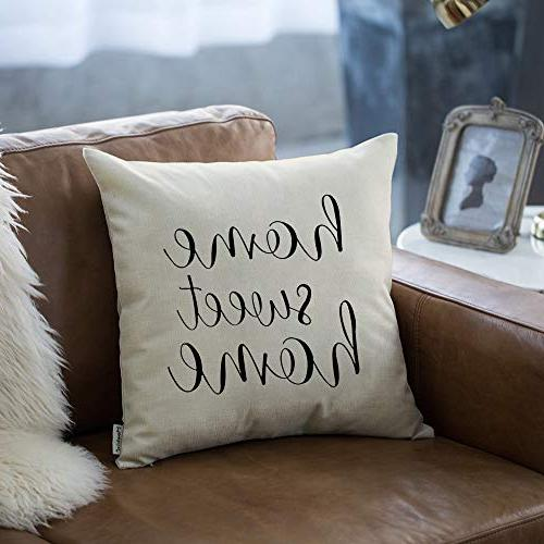 Meekio with Home Sweet Home Quotes 18 x 18 Inch for Farmhouse Perfect