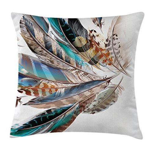 feather house decor throw pillow