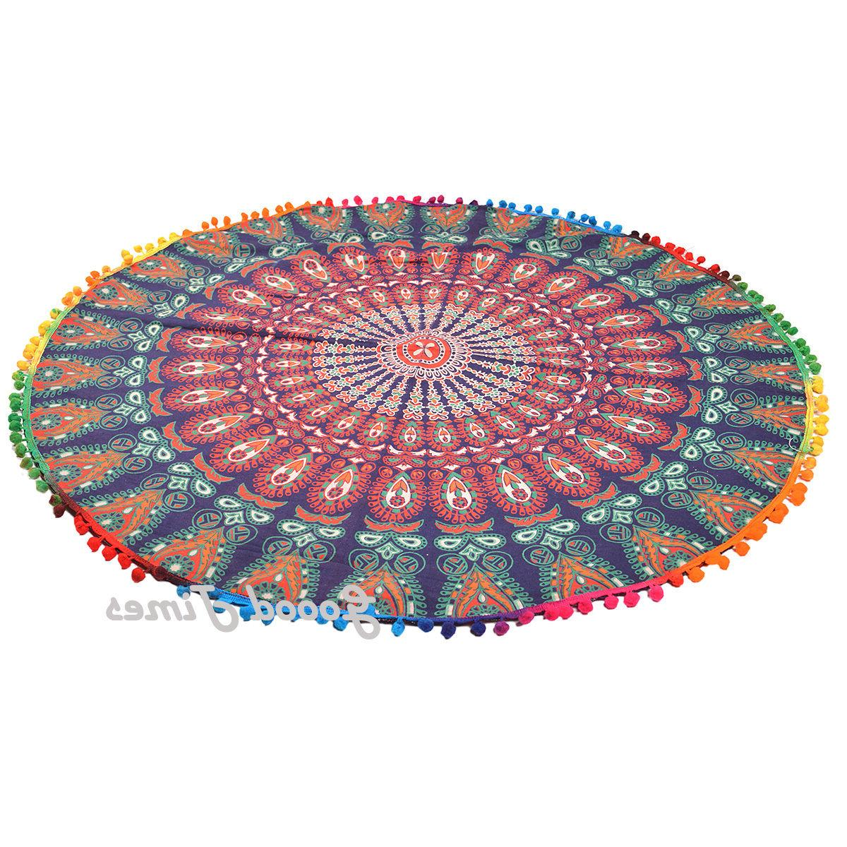 Floor Large Pouf Cover Bohemian Throw Pillow