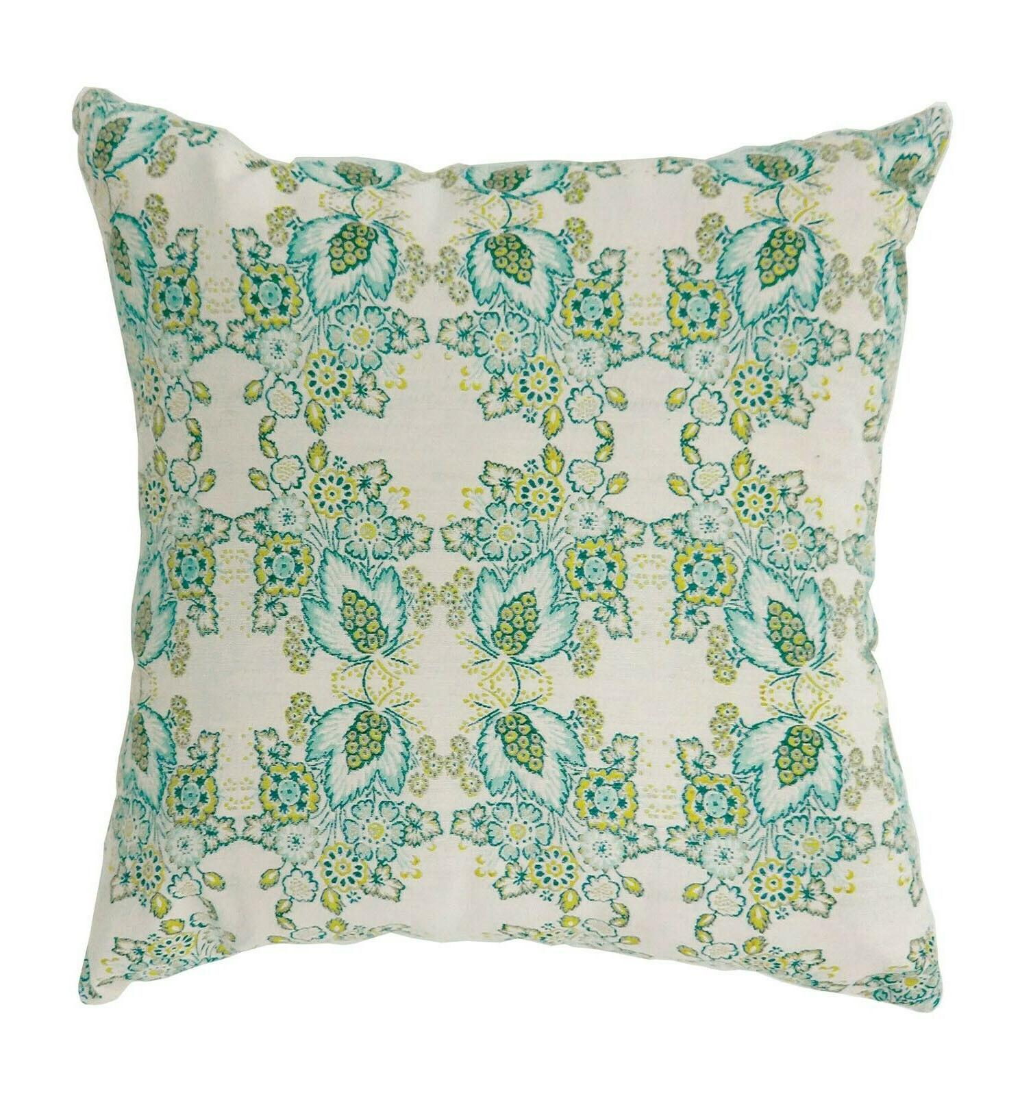 floral features square pillow set two pc