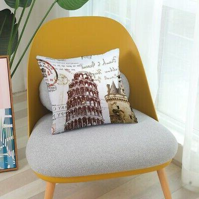 Floral Pillow Case Cover Waist Car Sofa Vintage