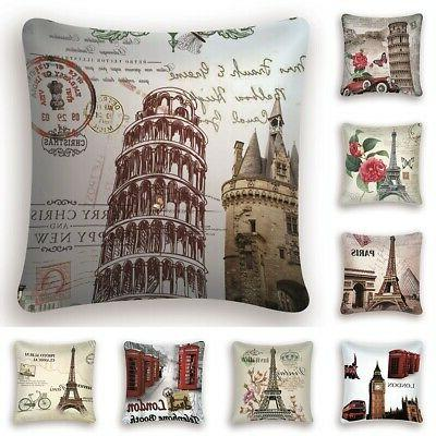 Floral Pillow Cushion Cover Waist Throw Home Car Sofa