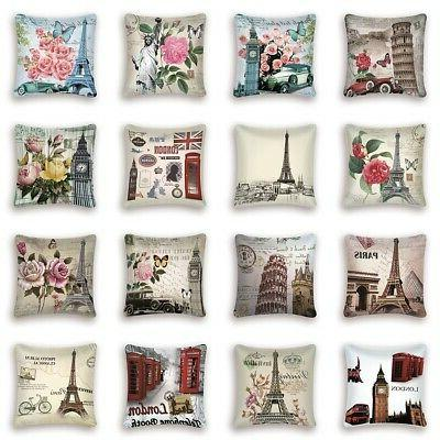 floral pillow case cushion cover waist throw