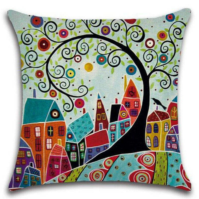 Floral Office Waist Throw Cushion Decor