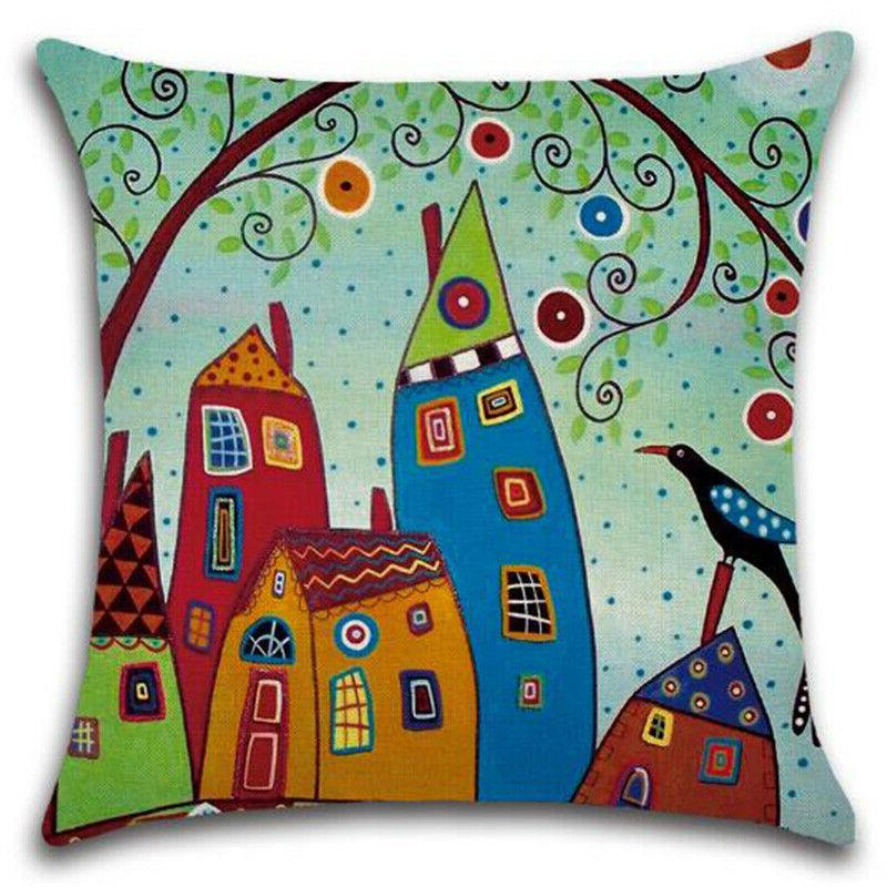 Floral Pillows Case Office Car Bedroom Waist Throw Cushion Cover Home Decor