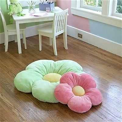 Flower Pillows Girls Room & Nursery, Plush Throw Pillow