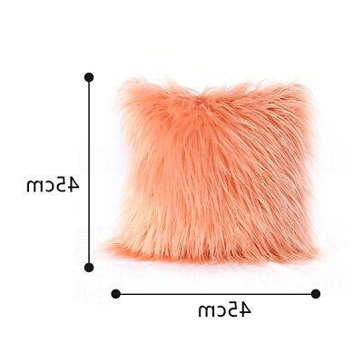 Fluffy Fur Plush Throw Case Soft Cover US.