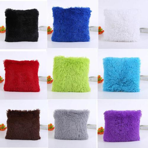 fluffy plush soft pillow cases sofa car