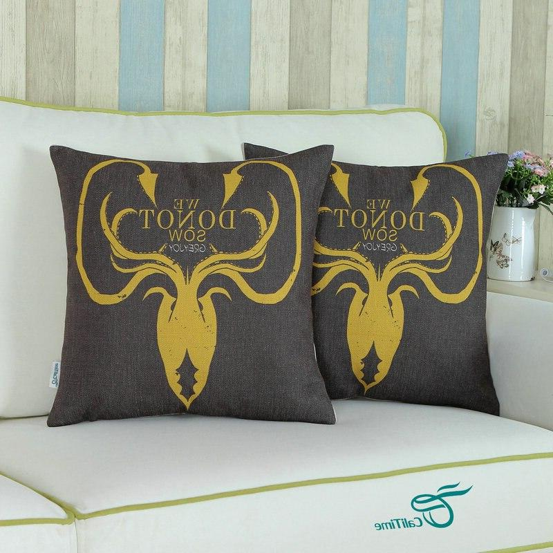 <font><b>CaliTime</b></font> Shell Cushion Game of Thrones Houses Greyjoy 45cm X 45cm