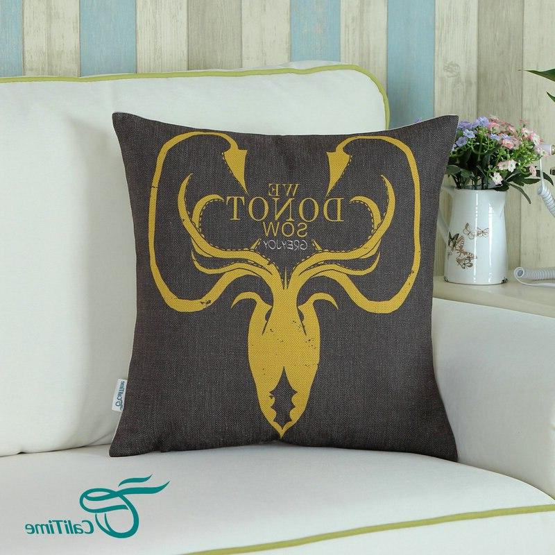 <font><b>CaliTime</b></font> <font><b>Decorative</b></font> <font><b>Throw</b></font> <font><b>Pillow</b></font> Shell A Game Greyjoy 45cm