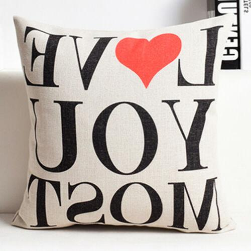 Funny Cotton Linen Sofa Cushion Cover Home 18inch