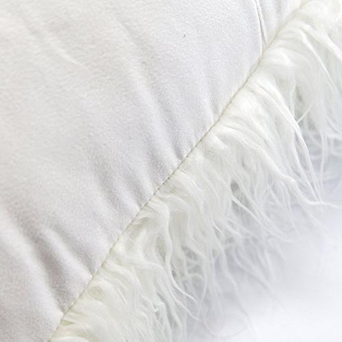 MIULEE Pack of 2 Decorative Luxury Style White Cover for Car x Inch 45 cm