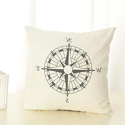 Wonder4 Theme Pillow Map Throw Cases Couch Maps +1x X 18 Home Sofa of