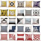 Geometric Cotton Pillow Case Waist Throw Cushion Cover Home