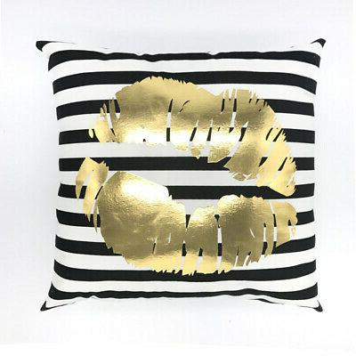 Gold Shining Throw Case Sofa Cushion Decor