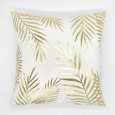 Gold Shining Throw Pillow Sofa Cushion Decor