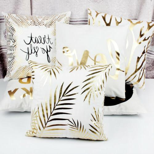 Gold Waist Throw Case Sofa Cover Home Decor
