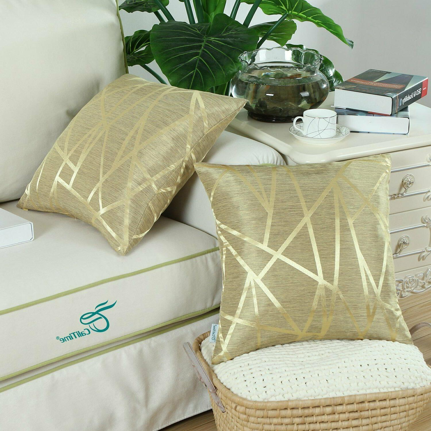 Gold Pillow - Modern Abstract, Calitime Pack 2