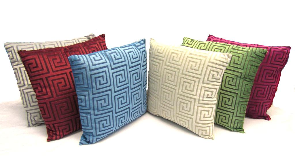 "Greek Key Decorative Throw  Pillow Cushion Sofa / Bed - 16""X"