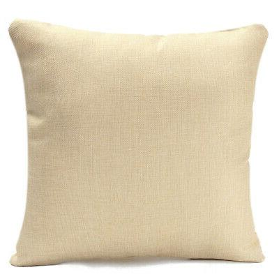 Green Leaf Cotton Linen Cushion Cover Pillow US!